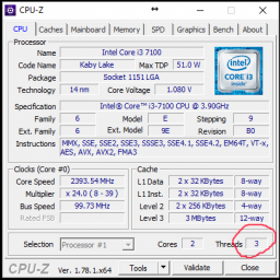 Процесор Intel Core i3-7100 3.9GHz/8GT/s/3MB (BX80677I37100) s1151 BOX фото від покупців 1