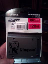 "Kingston SSD UV500 120GB 2.5"" SATAIII 3D NAND TLC (SUV500/120G) фото от покупателей 17"