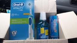Електрична зубна щітка ORAL-B BRAUN Vitality CrossAction/D100 Blue (4210201262336) фото від покупців 11