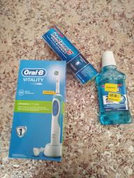 Електрична зубна щітка ORAL-B BRAUN Vitality CrossAction/D100 Blue (4210201262336) фото від покупців 16
